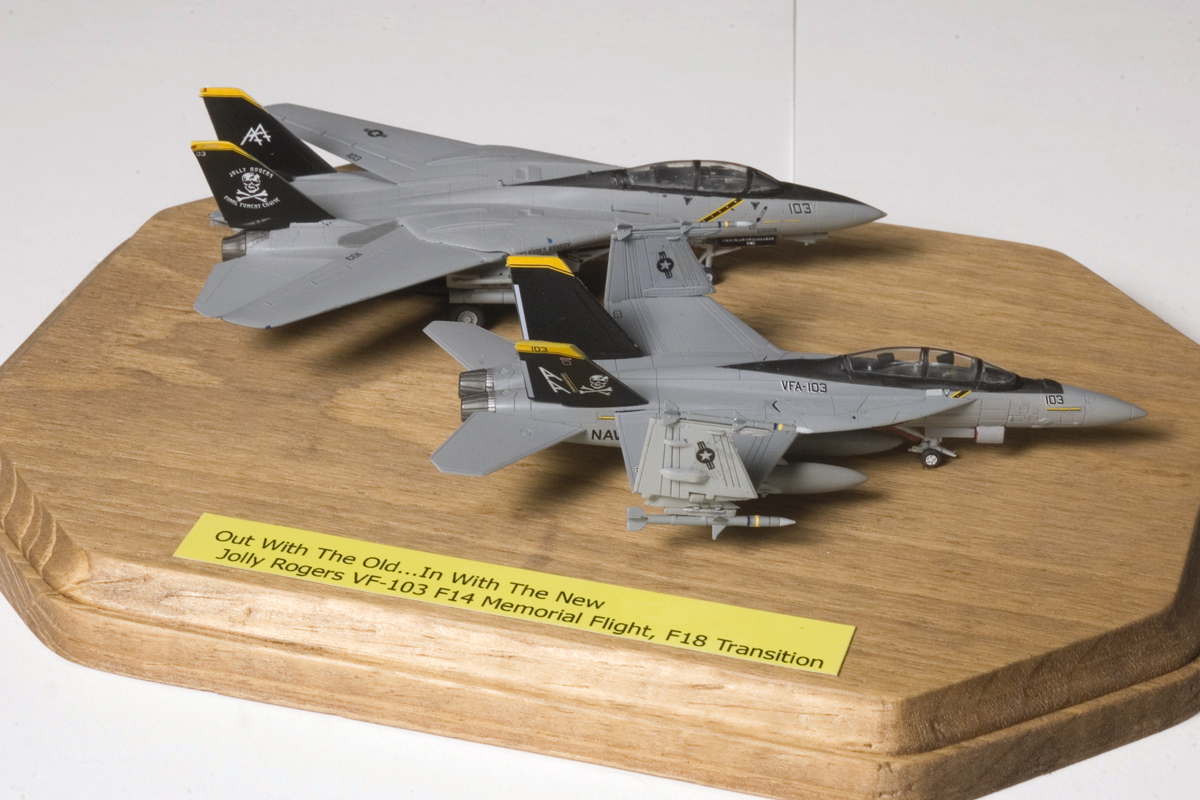 1/144 F-14 and F-18